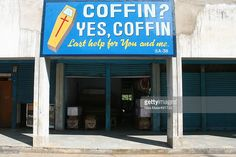 No, as you can see it is no coffee shop...Death in India is as normal as birth or marriage. Coffin shops are therefore a common sight.