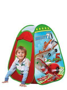 Lentsikat-teltta  Lentsikat-leikkiteltta ponnahtaa itsestään auki ja on myös helppo taittaa kasaan ja kuljettaa mukana. Koko on 75 x 75 x 90 cm. 3+