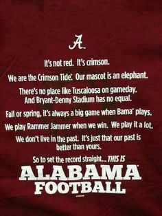RTR!!!  This is Alabama Football...Shopaholic in Alabama football Pinning this for my Alabama fan friends!