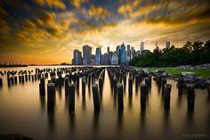 A New York City Sunset by Elena Paraskeva