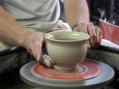 Throwing a Clay Pottery Mortar & Pestle on the wheel demo