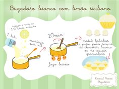 Brigadeiro branco com limão I Love Chocolate, Chocolate Desserts, Quick Recipes, Sweet Recipes, Chocolates, Kitchen Reviews, Good Food, Yummy Food, Awesome Food