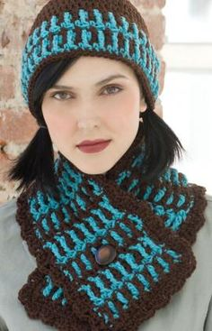 Lake House Hat & Scarf free crochet pattern