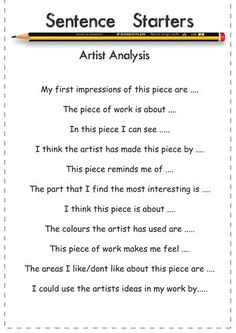 Art Vocab Bank and Sentence Starter help sheets bell work critique Middle School Art, Art School, Art Analysis, Art Doodle, Art Critique, Art Handouts, Gcse Art Sketchbook, Sketchbooks, Art Criticism