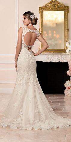 Stella York Lace Fit and Flare Wedding Dress style 6335 b / http://www.deerpearlflowers.com/stella-york-fall-2016-wedding-dresses/3/