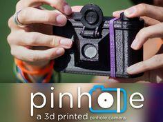 Pinhole printed: Cámara Pinhole hecha con impresora 3D