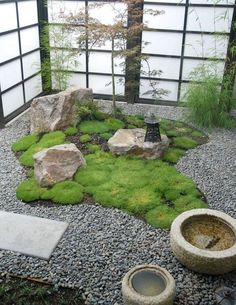 Daft and compact Japanese garden with Shoji Screens perfect for the contemporary home