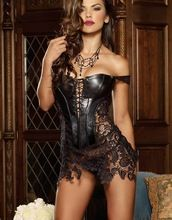 Faux Leather Corset Hot Sale Top Bustier Overbust For Women Plus Size Sexy Black Lace Corset Best Seller follow this link http://shopingayo.space