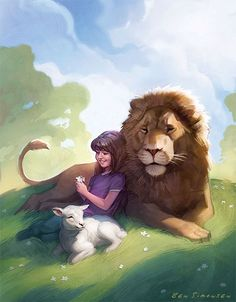 This is an Illustration that I did for the cover of the Friend Magazine. I went through tons of revisions creating it, sometimes scrapping h. Braut Christi, Jehovah Paradise, Lion And Lamb, Jesus Art, Prophetic Art, Biblical Art, Lion Of Judah, Lion Art, Jesus Pictures