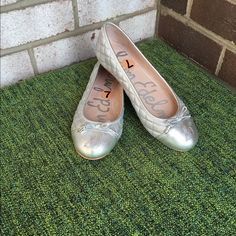 NWT Sam Edelman Quilted Flats Silver Gorgeous brand new flats!! So cute and classy. Never worn. Feel free to make an offer! Sam Edelman Shoes Flats & Loafers
