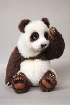 Панда Юки. Игрушка ручной работы / Изготовление авторских кукол своими руками, ООАК / Бэйбики. Куклы фото. Одежда для кукол