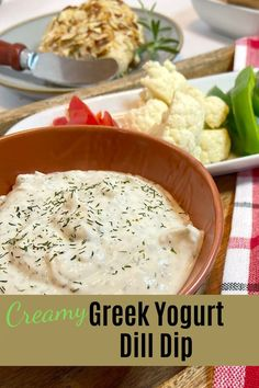 Greek yogurt is so versatile. This Greek yogurt dill dip recipe uses the zero fat variety, without losing any of the creaminess you want in a dip. Low calorie, low fat, and low carbohydrate. Great with vegetables, or grilled chicken. fitasafiddlelife.com Greek Yogurt Dips, Greek Yogurt Recipes, Healthy Dips, Healthy Food, Healthy Recipes, Dill Dip Recipes, Sauce Recipes, Dill Chicken, Grilled Chicken