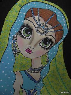 big eyed art | Big Eyed Art Mixed Media by Mary R Artist - Big Eyed Art Fine Art ...