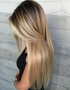 Blonde Balayage for Long Straight Hair