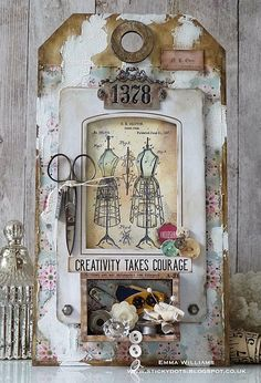 Tim Holtz, Vintage Tags, Vintage Diy, Vintage Crafts, Handmade Jewelry Findings, Simon Says Stamp Blog, Handmade Tags, Vintage Handmade Cards, Handmade Crafts