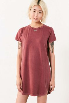 BDG Morisette T-Shirt Dress  XS in Maroon? Darker Pink? NOT PINK. Navy is cool too.