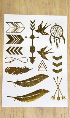 Flash Tattoos- sold for $10/sheet @ Salon Callidora { in NOLA}