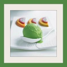 This green tea ice cream recipe is a lovely colour, has a delicate flavour, and is perfect with tropical fruits.