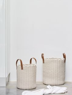 Woven Laundry Basket, Laundry Bin, Interior Styling, Interior Design, Bad Inspiration, Moving Out, Towel Holder, Next At Home, Leather Handle