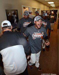 Giants Win The West – Clubhouse Celebration « SF Giants Photos
