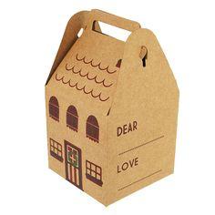Hobbycraft Festive House Shaped Gift Boxes 4 Pack Assorted | Hobbycraft