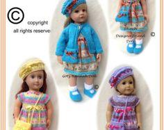44 American Girl Doll Paris j'taime PDF Knitting by jacknitss