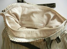 Add a zippered lining to a bag