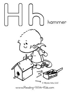H Is For Hammer Coloring Pages All Letters
