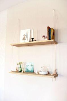 DIY swing shelves