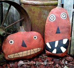 Extreme Primitive Punk & Jack Fall Pumpkin by MeadowForkPrims, $34.00
