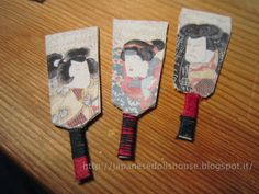 Hagoita for the #japanese #ryokan #dollhouse