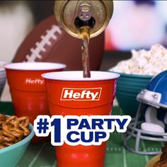 Save time on cleanup at your next party with these durable Hefty® Party Cups Drinks Alcohol Recipes, Yummy Drinks, Hallway Shelf, Long Hallway, Pumpkin Oil, Autoimmune Diet, Backyard Camping, Disposable Cups, Thrift Store Crafts
