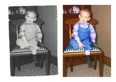 The Photo Restoration Center Before & After Examples. Including fixing faded photos, repairing cracks & tears, replacing missing areas, mold removal & more. Photo Restoration, Street Graffiti, Doodles, Wood
