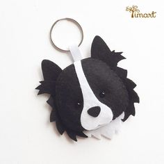 packet-pap-border-collie Border Collie Art, Felt Keychain, Diy Y Manualidades, Felt Christmas Decorations, Felt Dogs, Party Decoration, Felt Patterns, Cat Crafts, Animal Pillows