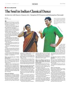 The Soul in Indian Classical Dance (Pg 1/2) --- (Epoch Times, Singapore Edition: Issue 499, Nov 21 – Dec 4, 2014)