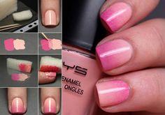 Como pintarse las uñas en degrade