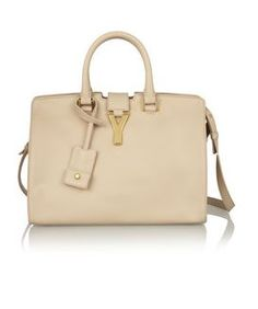 SAINT LAURENT Small Cabas Y leather tote