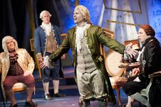 Brent Maddox as Mozart in Blackbird's 2013 production of Amadeus by Peter Shaffer