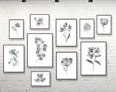 Items similar to Yellow Gray White Floral Flower Bathroom Bath Wall Art Prints refresh relax unwind soak Simple Curlicue Clean Modern UNFRAMED Prints on Etsy Grey Wall Art, Black And White Wall Art, Black White, Plant Art, Plant Decor, Wall Art Sets, Wall Art Prints, Floral Bedroom Decor, Colorful Wall Art