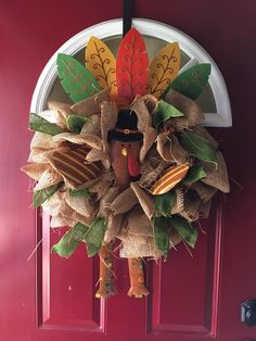 Funky Thanksgiving Day Wreath
