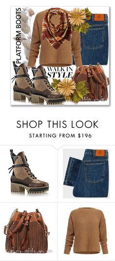 """""""Kickin' It: Platform Boots"""" by slynne-messer ❤ liked on Polyvore featuring PS Paul Smith, Diane Von Furstenberg, Dagmar and La Fiorentina"""