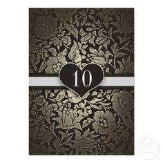 10th wedding anniversary vintage damask invitations