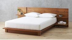 andes acacia full bed   CB2