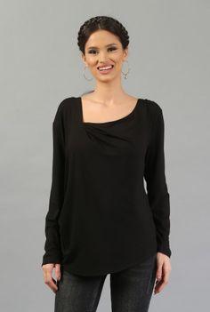 Bluza cu decolteul asimetric B026-M -  Ama Fashion