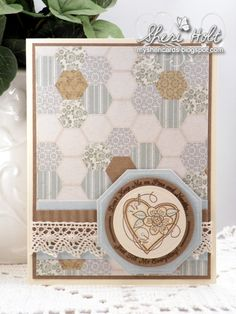 Stitched With Love card designed by Sheri Holt (retired set)