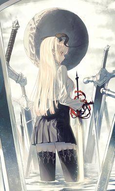Blonde Anime Girl, Cool Anime Girl, Anime Art Girl, Chica Anime Manga, Manga Girl, Kawaii Anime, Anime Warrior Girl, Anime Animals, Detail Art