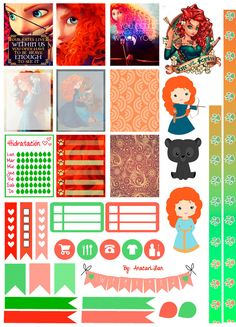 Merida/Brave - Printable Stickers by AnacarLilian.deviantart.com on @DeviantArt