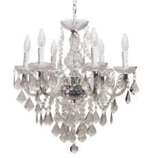 Hampton Bay Maria Teresa 6 Light Chandelier In Chrome Finish With Lucite Jewels Home Depot Canada