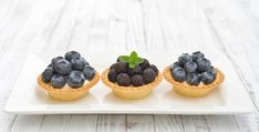 Mini But Mighty: 8 Bite-Size Desserts - Joy Bauer Bite Size Desserts, Mini Desserts, Dessert Recipes, Joy Bauer Recipes, Blueberry Crisp, Healthy Desserts, Healthy Foods, Healthy Eating, Ice Cream Pies