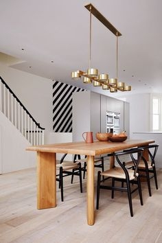 Discover dining room ideas on HOUSE - design, food and travel by House & Garden. Suzy Hoodless using the drama and purity of geometric pattern at its very best.